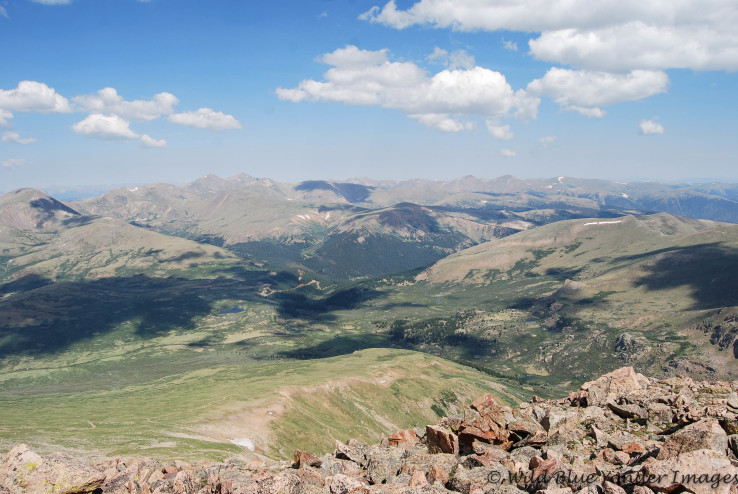 The View from Mt. Bierstadt