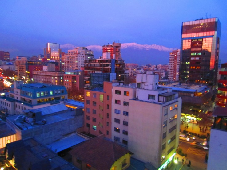 Sunset in Santiago, Chile