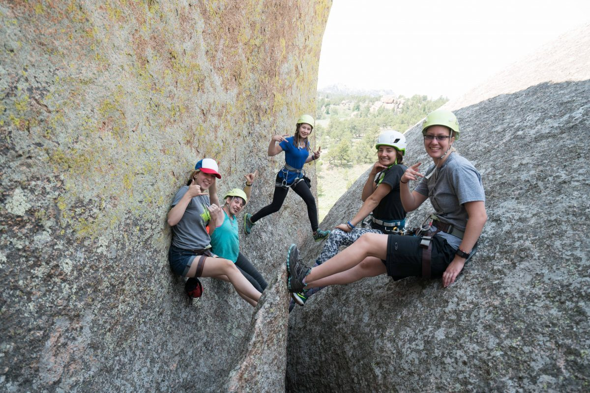 Rock climbing camp for girls