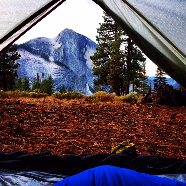 View from tent in Yosemite