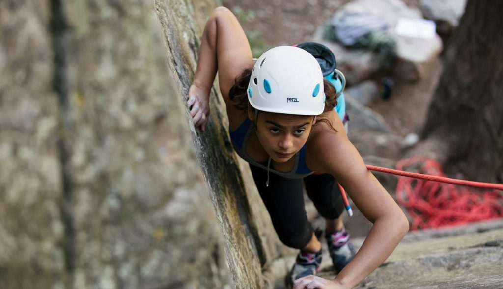 Girl's rock climbing course