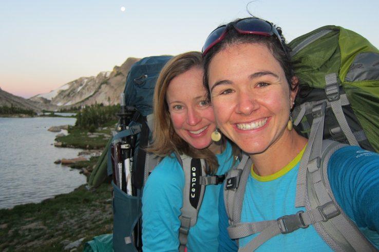 women venture outdoors