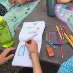 Free creative time at adventure camp