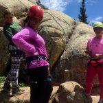 Climbing at adventure camp